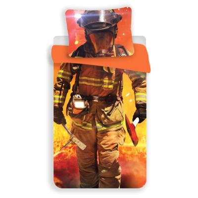 Brandweerman kinderdekbedovertrek 140x200