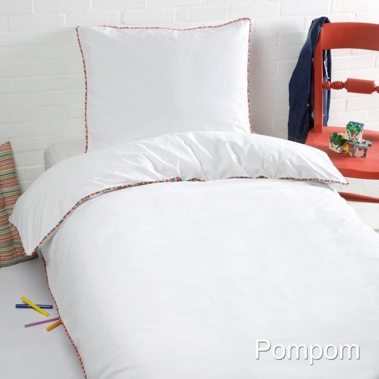 Pompom kinderdekbedovertrek 140x200