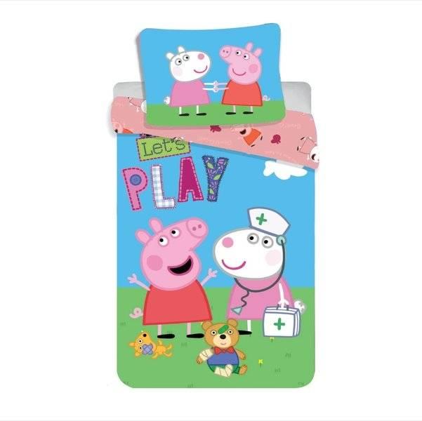 Peppa Pig kinderdekbedovertrek 140x200 - Let's Play