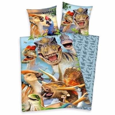 Selfies kinderdekbedovertrek 140x200 - Dinosaurus