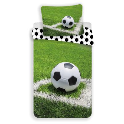 Voetbal kinderdekbedovertrek 140x200 - Groen