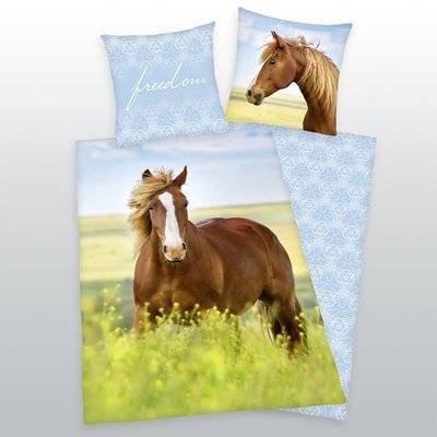 Paarden kinderdekbedovertrek 140x200 Freedom