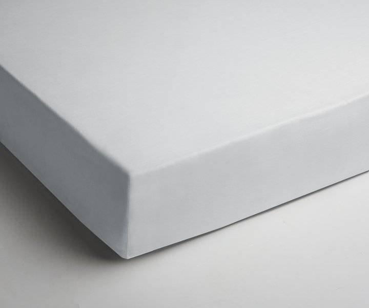 Jersey hoeslaken 90x200 - Wit