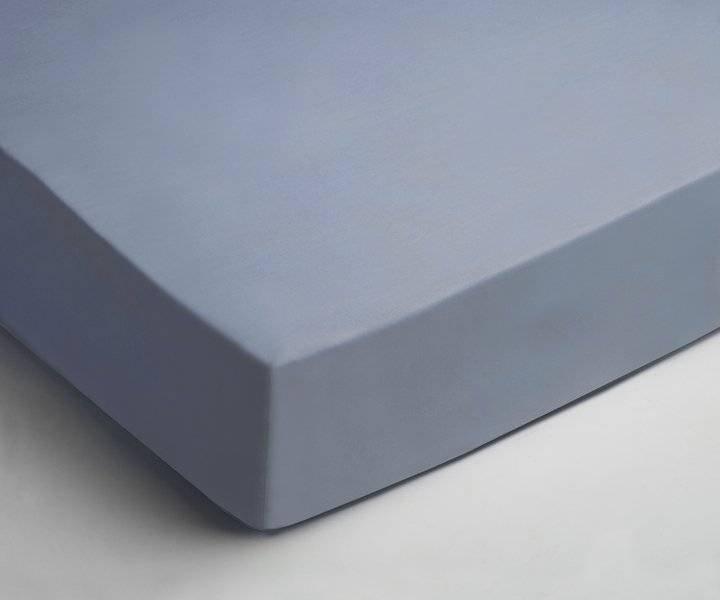 Jersey hoeslaken 90x200 - Licht Blauw