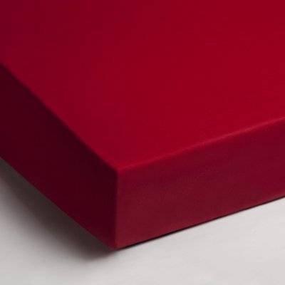 Jersey hoeslaken 90x200 - Rood
