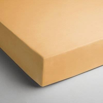 Jersey hoeslaken 90x200 - Licht Geel