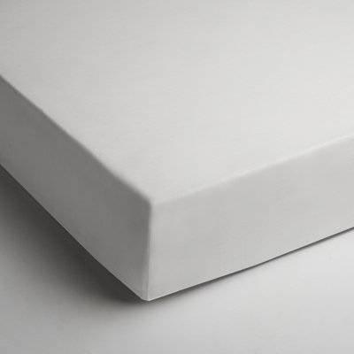 Katoenen hoeslaken 90x200 - Wit