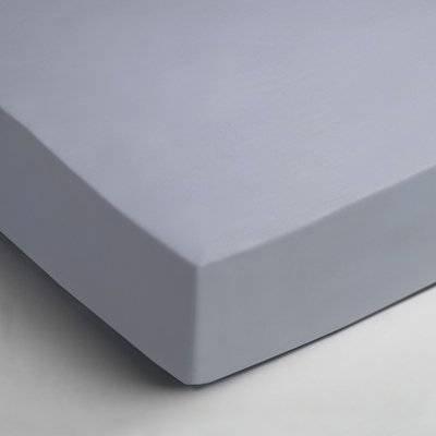 Katoenen hoeslaken 90x200 - Licht Blauw