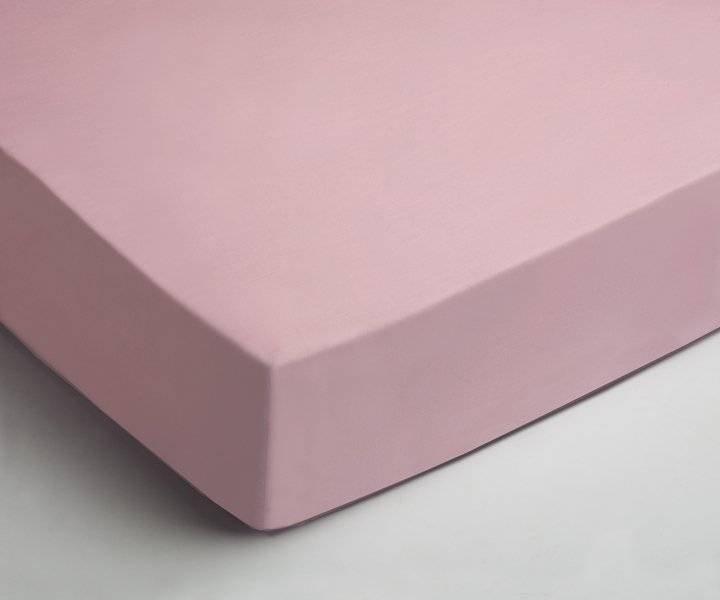 Katoenen hoeslaken 90x200 - Licht Roze