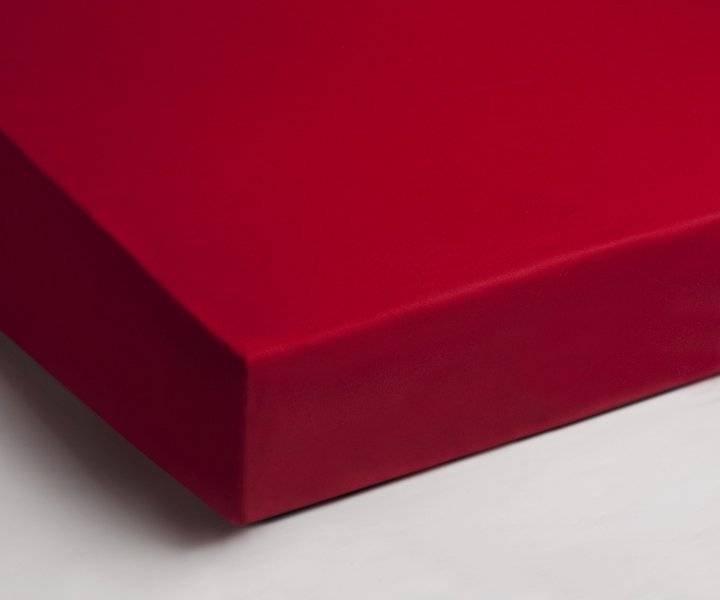 Katoenen hoeslaken 90x200 - Rood