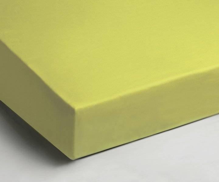 Katoenen hoeslaken 90x200 - Lime