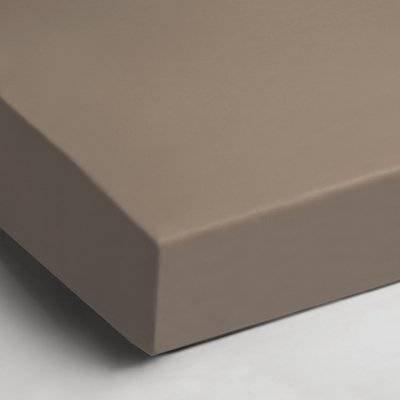 Katoenen hoeslaken 90x200 - Taupe