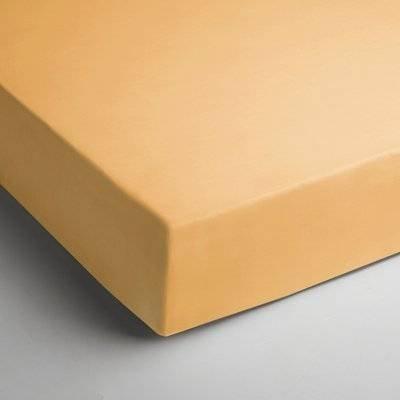 Katoenen hoeslaken 90x200 - Geel