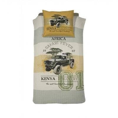 Jeep kinderdekbedovertrek 140x200 - Kenia Khaki