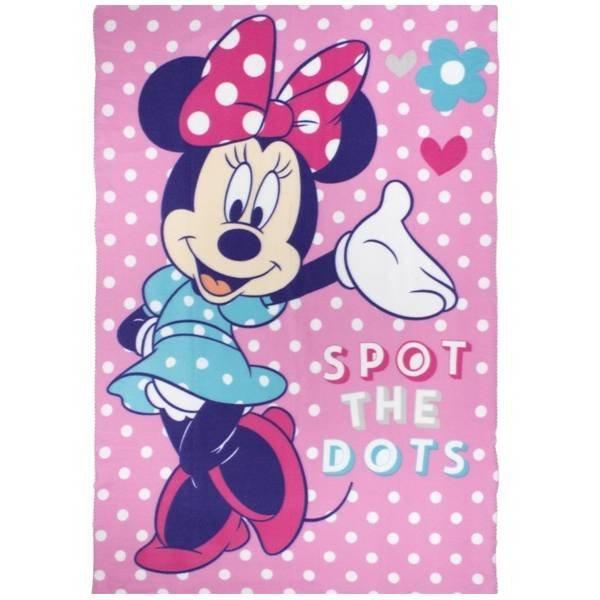 Minnie Mouse Plaid - Fleece deken 100x150