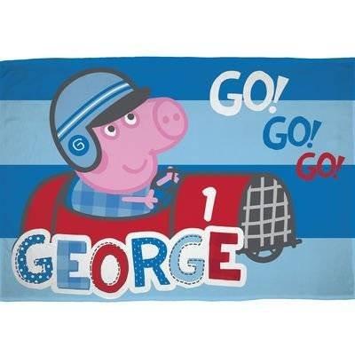 George Pig Plaid - Fleece Deken 100x150