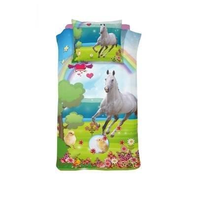 Paard kinderdekbedovertrek 140x200 - Mysty