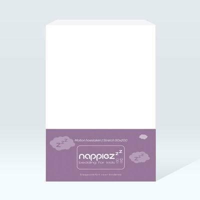 Molton hoeslaken 90x200 - Stretch - Nappiez