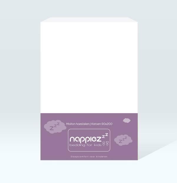Molton hoeslaken 90x200 - Katoen - Nappiez