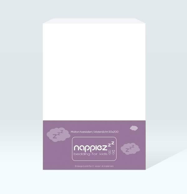 Molton hoeslaken 90x200 - Waterdicht - Nappiez