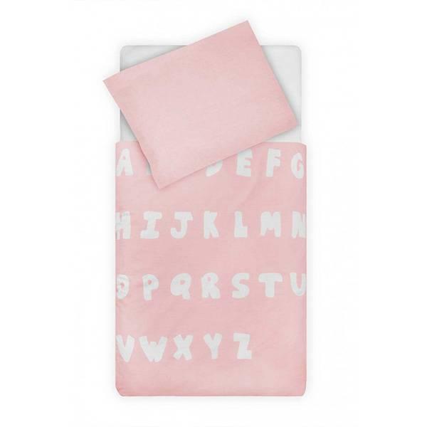 ABC kinderdekbedovertrek 140x200 - Blush Pink