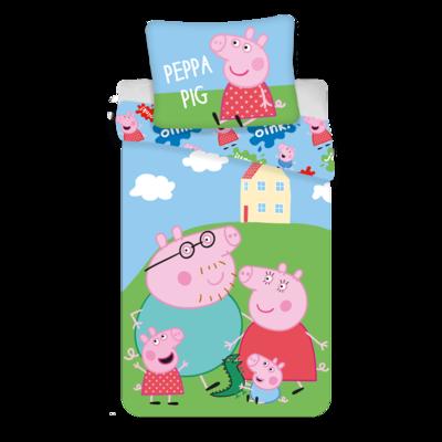 Peppa Pig kinderdekbedovertrek 140x200 - Oink