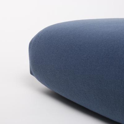 Jersey hoeslaken 90x200 - Blauw Indigo - Nappiez