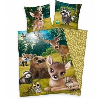 Animal Club kinderdekbedovertrek 140x200 - Bosdieren
