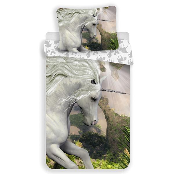 Unicorn kinderdekbedovertrek 140x200 - White
