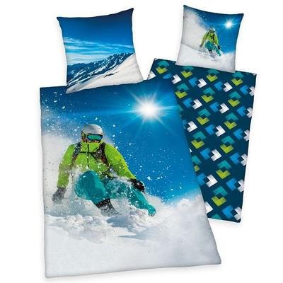 Skiër kinderdekbedovertrek 140x200